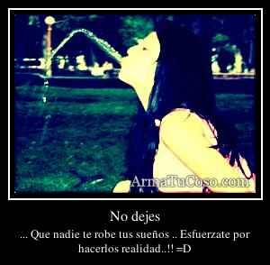 No dejes
