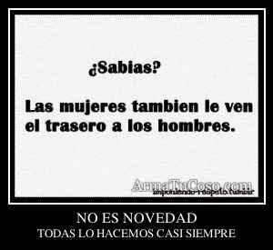 NO ES NOVEDAD