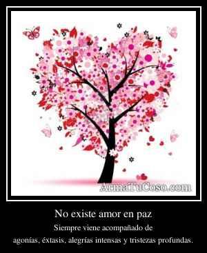 No existe amor en paz