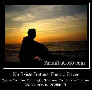 No Existe Fortuna, Fama o Placer