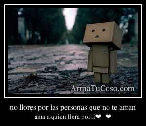 no llores por las personas que no te aman