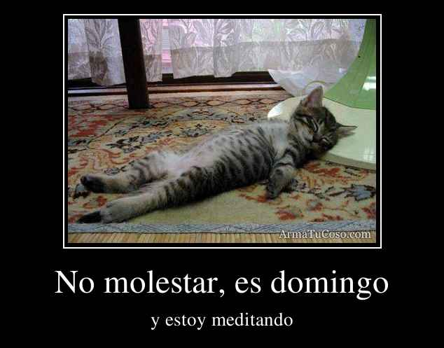 No molestar, es domingo