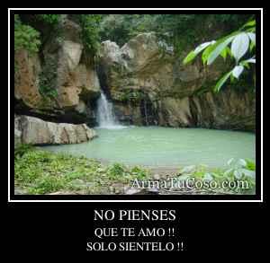 NO PIENSES