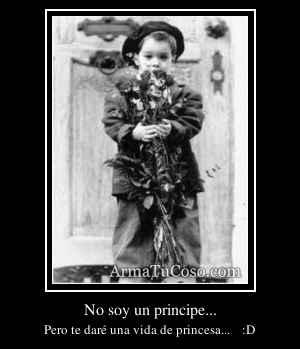 No soy un principe...