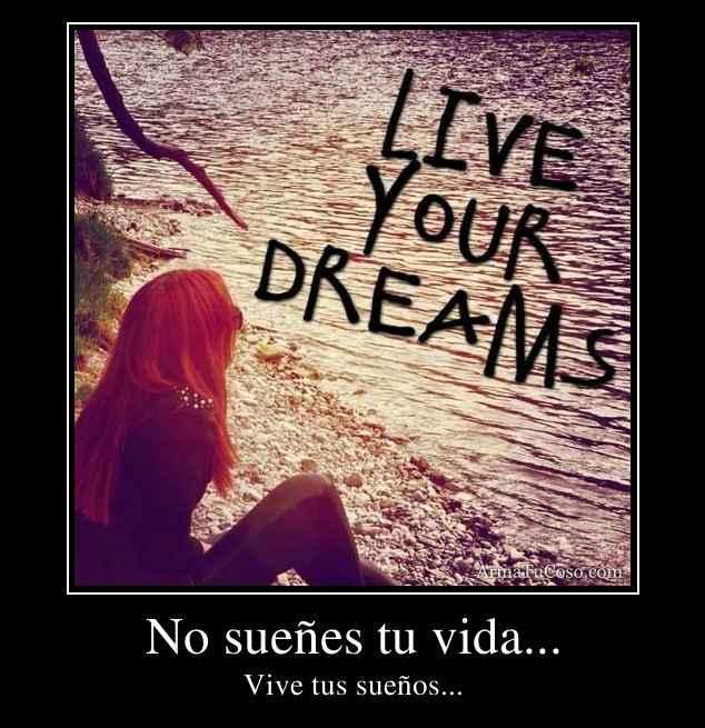 No sueñes tu vida...