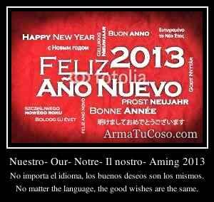 Nuestro- Our- Notre- Il nostro- Aming 2013