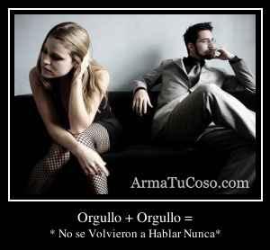 Orgullo + Orgullo =