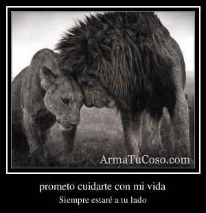 prometo cuidarte con mi vida