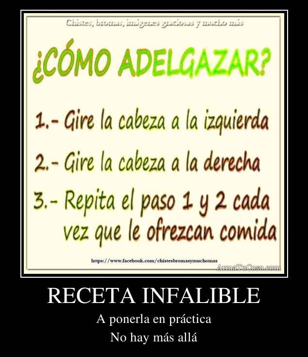 RECETA INFALIBLE
