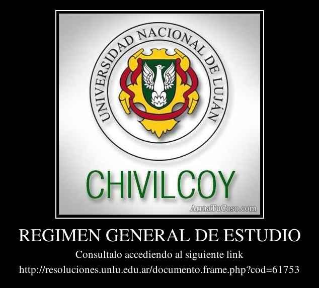 REGIMEN GENERAL DE ESTUDIO