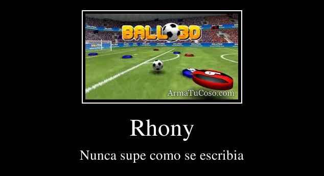 Rhony