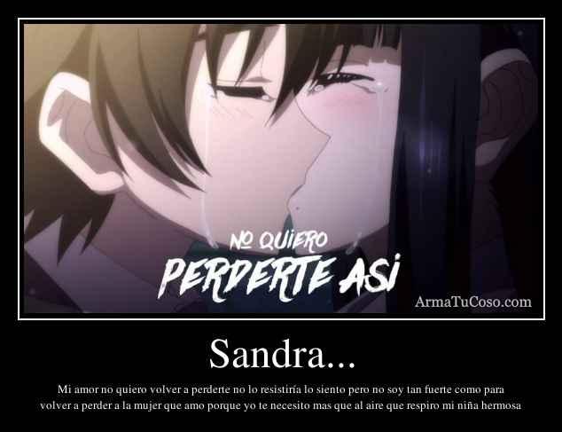 Sandra...