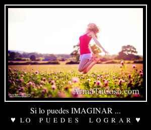 Si lo puedes IMAGINAR ...