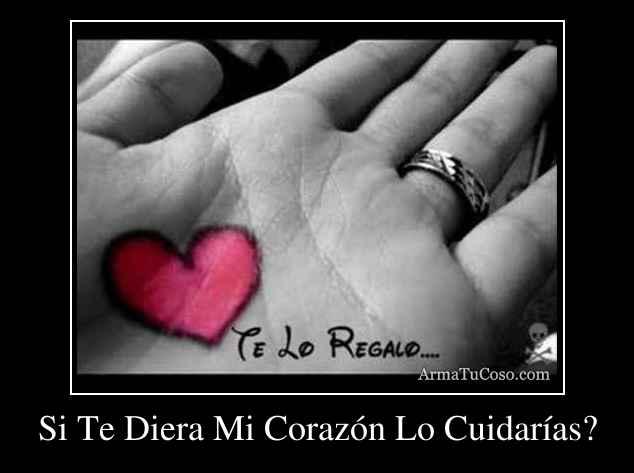 Si Te Diera Mi Corazón Lo Cuidarías?