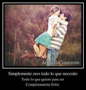 Simplemente eres todo lo que necesito