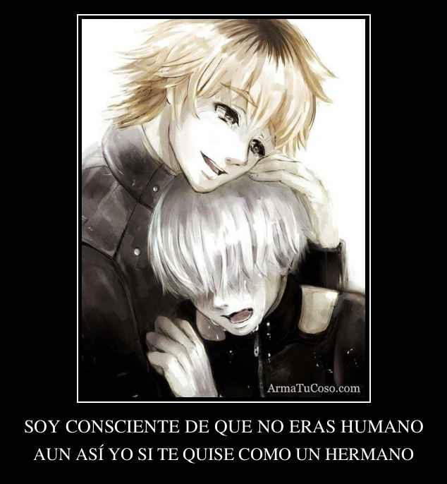 SOY CONSCIENTE DE QUE NO ERAS HUMANO