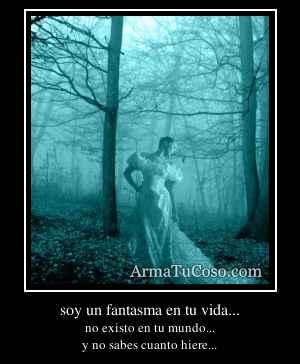 soy un fantasma en tu vida...