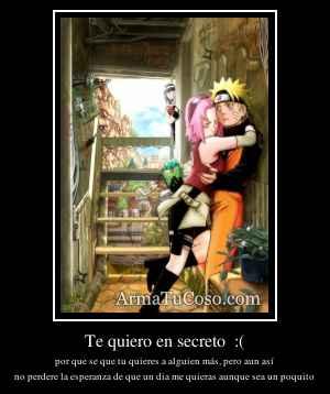 Te quiero en secreto  :(
