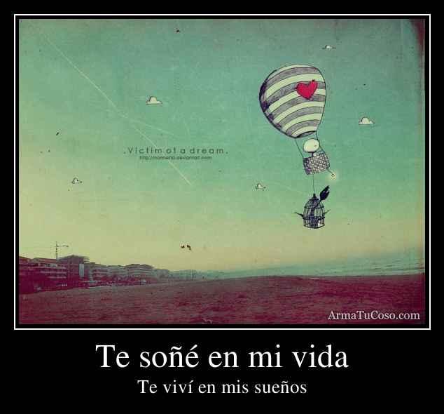 Te soñé en mi vida