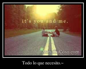 Todo lo que necesito.~