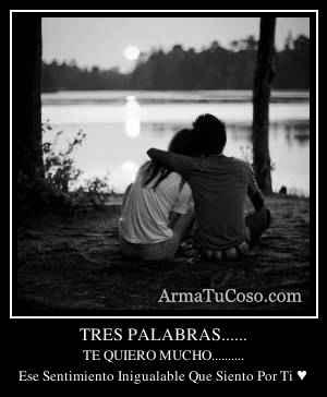 TRES PALABRAS......