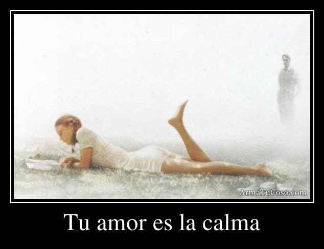Tu amor es la calma