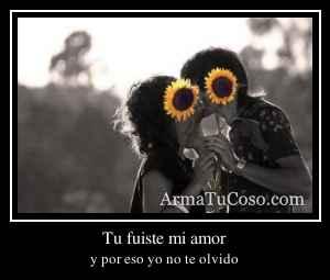 Tu fuiste mi amor