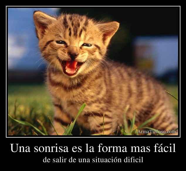 Una sonrisa es la forma mas fácil