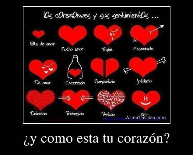 ¿y como esta tu corazón?