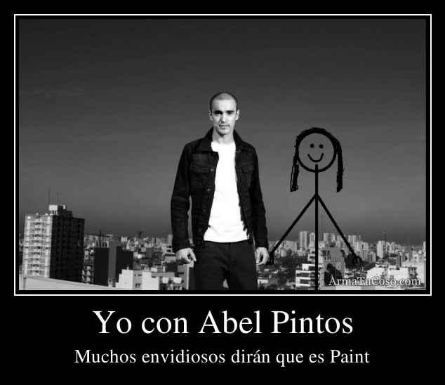 Yo con Abel Pintos